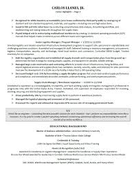 Senior Operations Executive Resume Sample