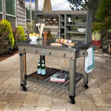 Patio Serving Cart Barn Stain