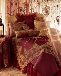 Similar To The Bed In Elephant Passionate Reds With Gold Detailing Its
