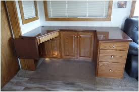 Highly Customized Desk That Replaced Dinette In RV