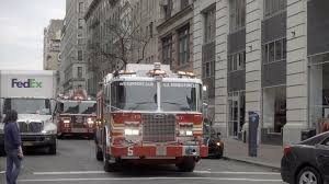 100 Emergency Truck FDNY Fire Truck With Siren Rushing To Emergency In Slow Motion NYC