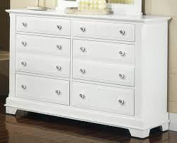 Vaughan Bassett Dresser With Mirror by Furniture Stunning Vaughan Bassett Ellington White Triple