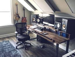 Spectacular Music Studio Desk In Modern Inspirational Home Designing H55f With