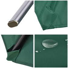Offset Patio Umbrella With Mosquito Net by 10 U0027 Deluxe Patio Hanging Roma Offset Umbrella Outdoor Cantilever