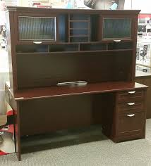 Realspace Broadstreet Contoured U Shaped Desk Cherry by Realspace Magellan L Desk And Hutch Bundle Best Home Furniture