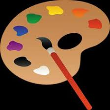 Cartoon Paint Brush And Palette 396x400