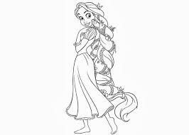 Disney Tangled Coloring Pages Rapunzel
