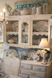 Shabby Chic Dining Room Hutch by Shabby Chic Vintage Dining Room Shabby Chic Style With Doilies