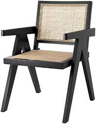 casa padrino luxus esszimmerstuhl schwarz naturfarben 57 x