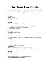 Best Cv For Banking Job Sample Resume