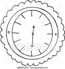 Lunchtime Clock Isolated Vector