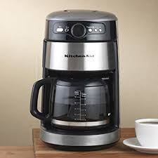 Amazon KitchenAid 14 Cup Silver Coffee Maker Drip Coffeemakers Kitchen Dining