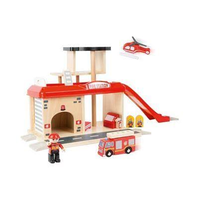 Small Foot Fire Station with Accessories Playset