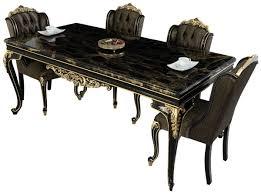 casa padrino luxus barock esszimmer set schwarz gold 1 esszimmertisch 6 esszimmerstühle edle barock esszimmer möbel edel prunkvoll