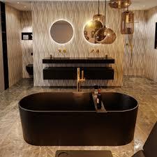 badewanne mineralwerkstoff schwarz nobel 180 cm