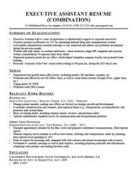 Executive Assistant Resume Sample With Summary Of Qualifications