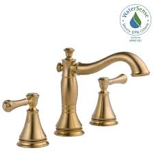 Delta Trinsic Bathroom Faucet Champagne Bronze by Delta Cassidy 8 In Widespread 2 Handle Bathroom Faucet With Metal
