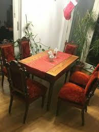 esszimmer möbel um 1900 tisch und 6 stühle