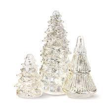 3 Piece LED Glass Christmas Tree
