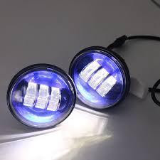 blue 4 1 2 4 5inch led passing light for harley davidson fog