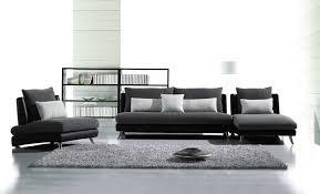 Contemporary Fabric and Leather Match Sofa Set JOE F60