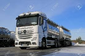 LIETO, FINLAND - FEBRUARY 15, 2015: White Mercedes-Benz Actros ... Freightliner Trucks Is Putting Knowledge Daimler North Successful Year For With Unit Sales In 2017 Mercedesbenz Created A Heavyduty Electric Truck Making City Commercial Truck Success Blog Presents Itself At Worlds Largest Manufacturer Launches Pmieres Made India Trucks Iaa Show Selfdriving Semi Technology Moving Quickly Down Onramp Financial America Teams Up Microsoft To Make From Around The Globe Fbelow And Daimler Trucks North America Sign Long Term Official Website Of Asia