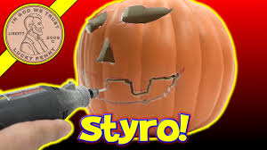 Carvable Foam Pumpkins Walmart by How To Carve A Funkins Carvable Pumpkin Youtube