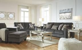 100 2 Sofa Living Room Gavril Smoke Loveseat Chair Ottoman Tessani Cocktail Table End Tables