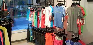 Clothing Display Racks Including Retail Creative