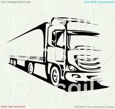 100 Semi Truck Clip Art Outline Art Black And White Drawing SOIDERGI