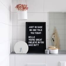 letterboard im bad für komplimente am morgen letterboard