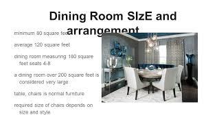 6 Dining Room SIzE And Arrangement Minimum 80 Square Feet Average