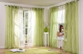 2 st gardine 140 x 245 creme grün wellen voile transparent