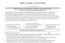 Medical fice Administration Resume Samples Duties A Assistant