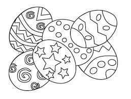 Decorated Easter Eggs Printable Coloring Pages Bunny Magician Free