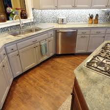 Vinyl Wood Plank Flooring In Kitchen Beach Style With Casual