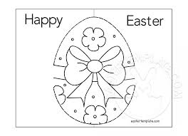 Easter Pop Up Card Coloring Page
