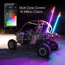 2x Whip XKchrome Advanced App Control LED Whip Light Kit For 4x4 ...