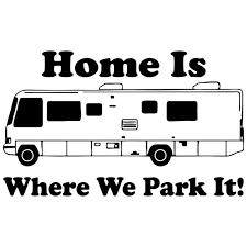 152CM93CM Camping RV Camper Home Park Car Truck Vinyl Decal Sticker Cartoon