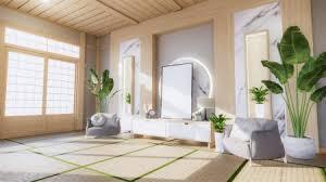 wohnzimmer granit weißen wandhintergrund mit dekoration