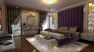 Purple Gray Bedroom Interior Design Ideas 2015