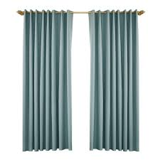 vorhang blickdicht gardine ösen fenstervorhang für schlafzimmer wohnzimmer 134x210cm blau