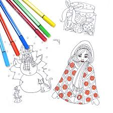 How I Made Instant Download Christmas Coloring Cards For My Etsy Shop There Are 20