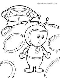 Alien On A Planet With Space Ship Color Page More Free Printable Fantasy Medieval Coloring Pages