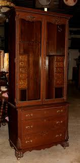 Curved Glass Curio Cabinet Antique by Antique Curio Cabinets With Claw Feet Roselawnlutheran