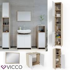 badezimmer badspiegel hochschrank vicco badmöbel set kiko