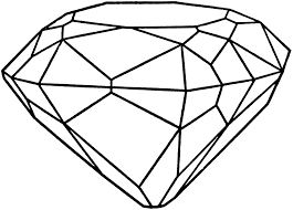 Pin Drawn Diamond Coloring Page 1