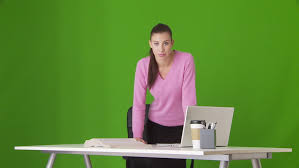 Bmcc Help Desk Email by Beautiful Female Student Read Book On A Green Screen Chroma Key