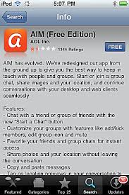 Download AIM App for iPhone and iPod Touch