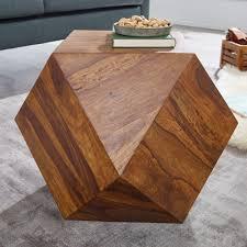 finebuy couchtisch 57 x 42 5 x 57 cm sheesham massivholz sofatisch modern wohnzimmertisch in diamantform holztisch massiv wohnzimmer echtholz